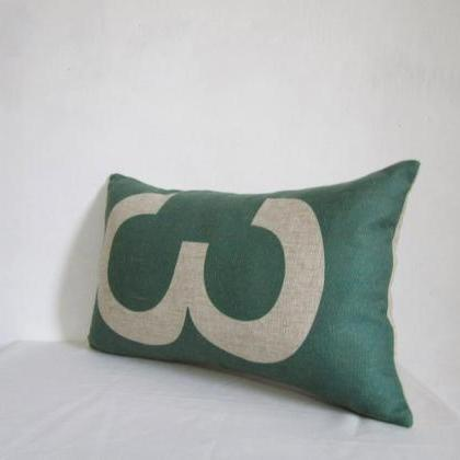 Word print Pillowcase Linen cotton ..