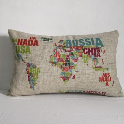 Wolrd Map Colorful Map Decorative L..