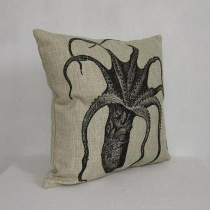 Linen pillow cover decorative pillo..